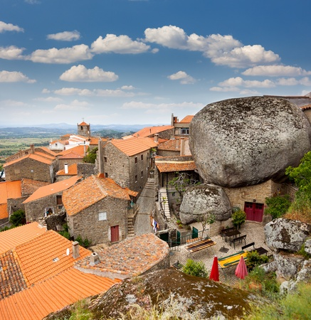 Monsanto village view  with the bell tower   Portugal  Europe Stock Photo