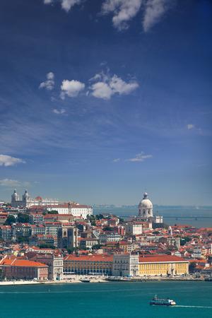 lisboa: Panorama of Alfama and Graca, cityscape of Lisbon, Portugal, European travel - vertical