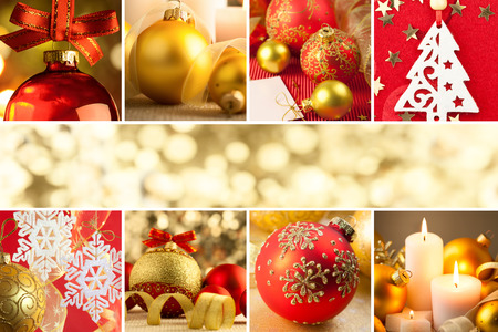 Christmas Decorations, Border - Background with copy space, Big Size photo