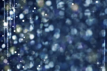 Christmas Night Abstract Background - Glittering Defocused Light and Stars photo