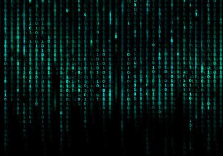Matrix-Code konzeptionellen Hintergrund Standard-Bild