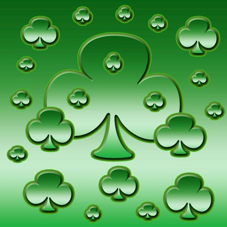 an illustration of a patch of clover Stock Illustration - 781342