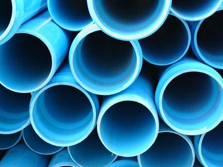 drenaggio: Plastica blu tubi di drenaggio delle acque