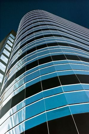 towerblock: City towerblock rendered blue Stock Photo