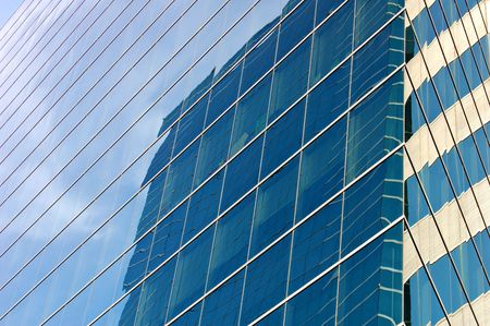 towerblock: Detail of glass office block