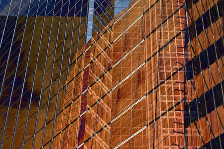 towerblock: Abstract detail of glass office block