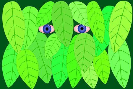 furtive: Illustration of a stalker Stock Photo