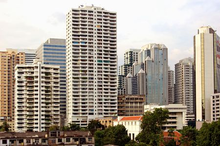 towerblock: Towerblocks in central Bangkok