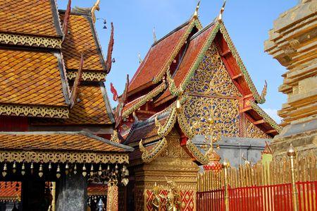 doi: Buddhist temple at Doi Suthep in northern Thailand