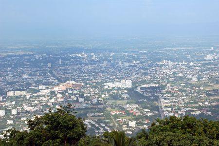 doi: Chiang Mai from Doi Suthep, Thailand Stock Photo