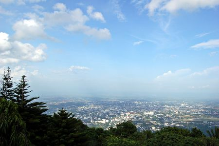 doi: Chiang Mai view from Doi Suthep, Thailand