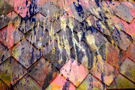 streaked: Streaked wooden roof slats