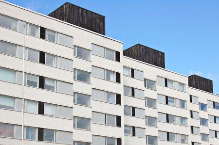 block of flats: Block of flats in Turku, Finland Stock Photo