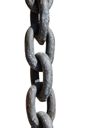 taut: Isolated chain with clipping path Stock Photo