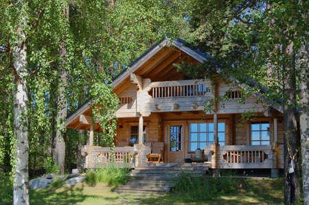 Finnish summer home Stock Photo