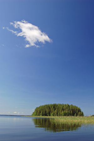 finland�s: Finland�s lago escena  Foto de archivo