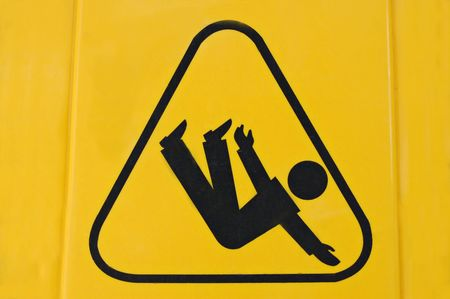 Sign warning of slippery floor Stock Photo - 528454