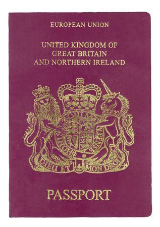 연합 왕국: Passport from United Kingdom with clipping path