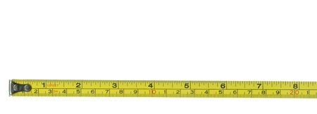 centimetre: Metal tape measure with clipping path Stock Photo