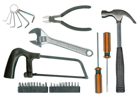 toolset: Various isolated tools with clipping path