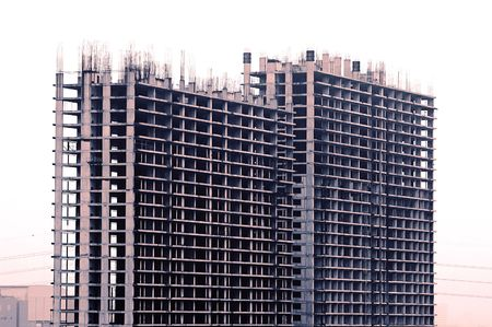towerblock: Building construction in greater Bangkok Stock Photo