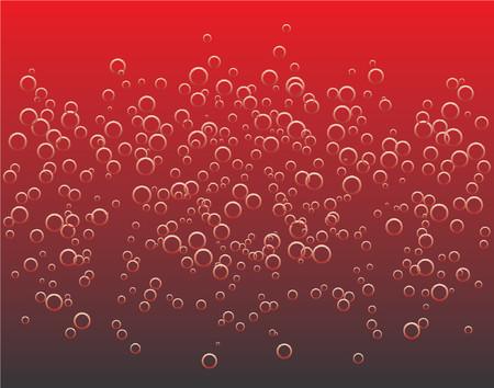 hot temper: Vectoriales de fondo de las burbujas en rojo l�quido caliente