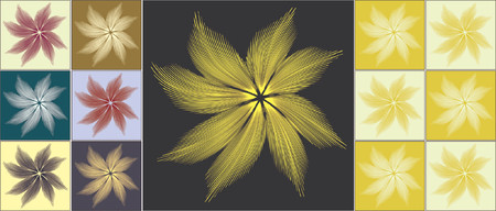 tollas: Vector background elements of feathery flower design