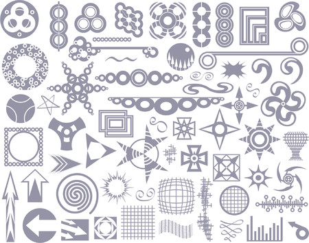 Set of abstract vector design elements Illustration
