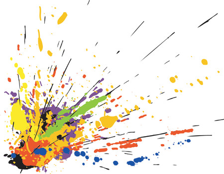 Colorful vector design of paint spill grunge Stock Vector - 979553
