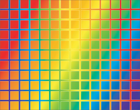 separate: Abstract vector background of a colorful grid with grid and background on separate layers