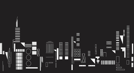 towerblock: Vector illustration of city lights at night