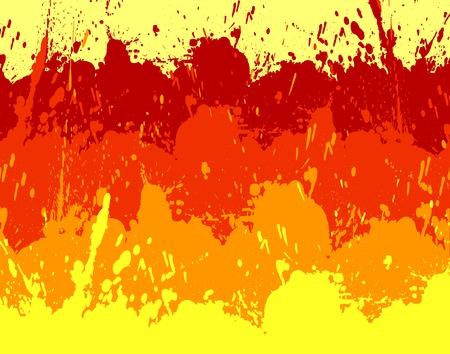 untidy: Abstract vector background of yellow, orange and red grunge Illustration