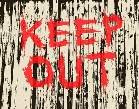trespass: Vector illustration of grungy painted keep out sign