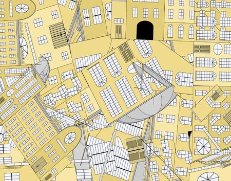 architectural elements: Resumen vector fondo de ventana de elementos arquitect�nicos