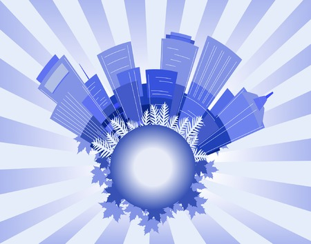 towerblock: Vector background illustration of an abstract city
