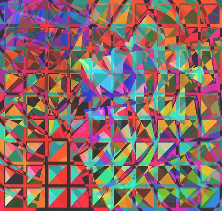 refracted: Abstract vector background of light refracted in squares