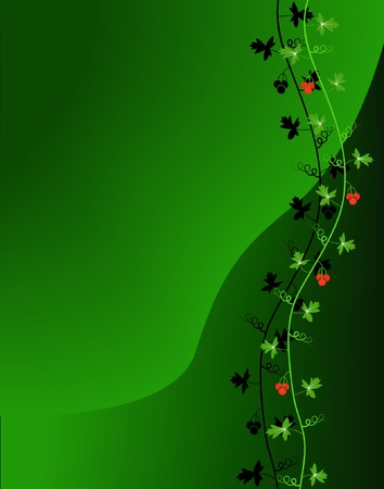 blends: Editable vector illustration of a plant vine made using blends Illustration