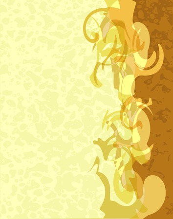 blotches: Abstract vector illustrated background in coffee colors Illustration