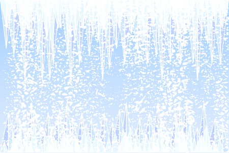 wintry: Abstract vector illustration of ice and snow