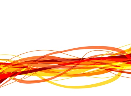 undulate: Vector illustration of red and yellow ribbons tangled together Illustration