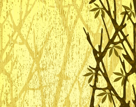 separate: Editable vector illustration of tree branches with background grunge as a separate layer Illustration