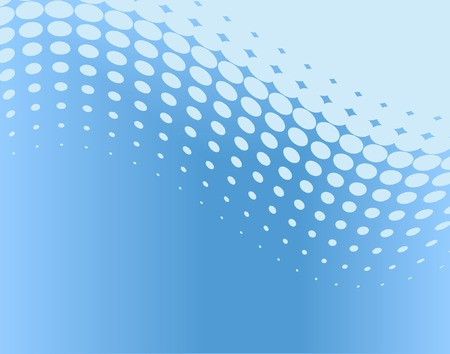 Abstract editable vector background of blue dot pattern Stock Vector - 1697024