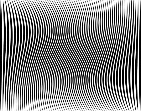 hypnotique: Editable vector illustration d'une rayure noire Illustration