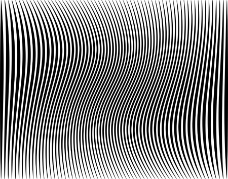 hypnotic: Editable vector illustration of a black stripe pattern Illustration