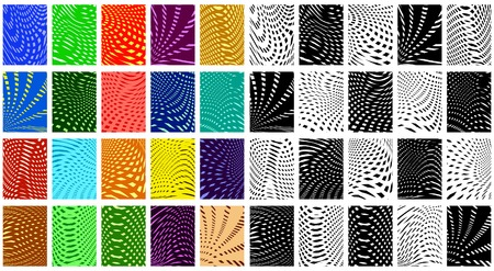 crisscross: Set of editable vector criss-cross patterns as color and black-and-white versions