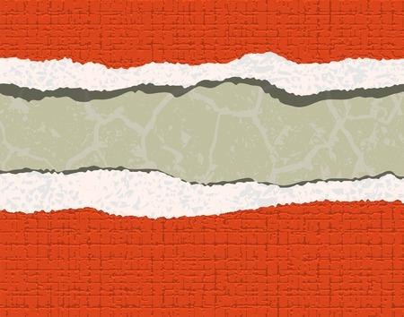 mur platre: Modifiable illustration vectorielle d�chir� par la texture de fond d'�cran