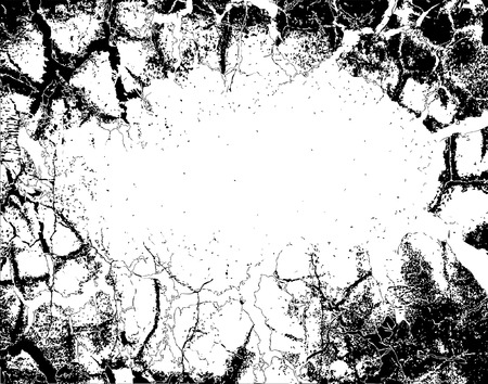 cracked wall: Abstract editable vector illustration of background grunge Illustration
