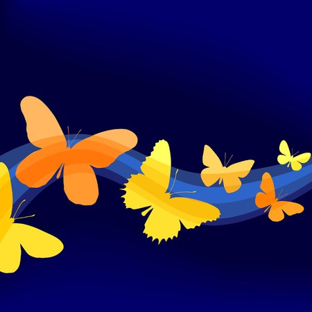 Background editable vector illustration of butterfly shapes