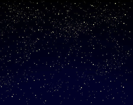 expansive: Editable vector illustration of a starry sky