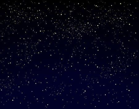 Editable vector illustration of a starry sky